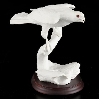"Jonathan Bronson for Franklin Porcelain ""Silent Hunter"" Figurine, 1985"