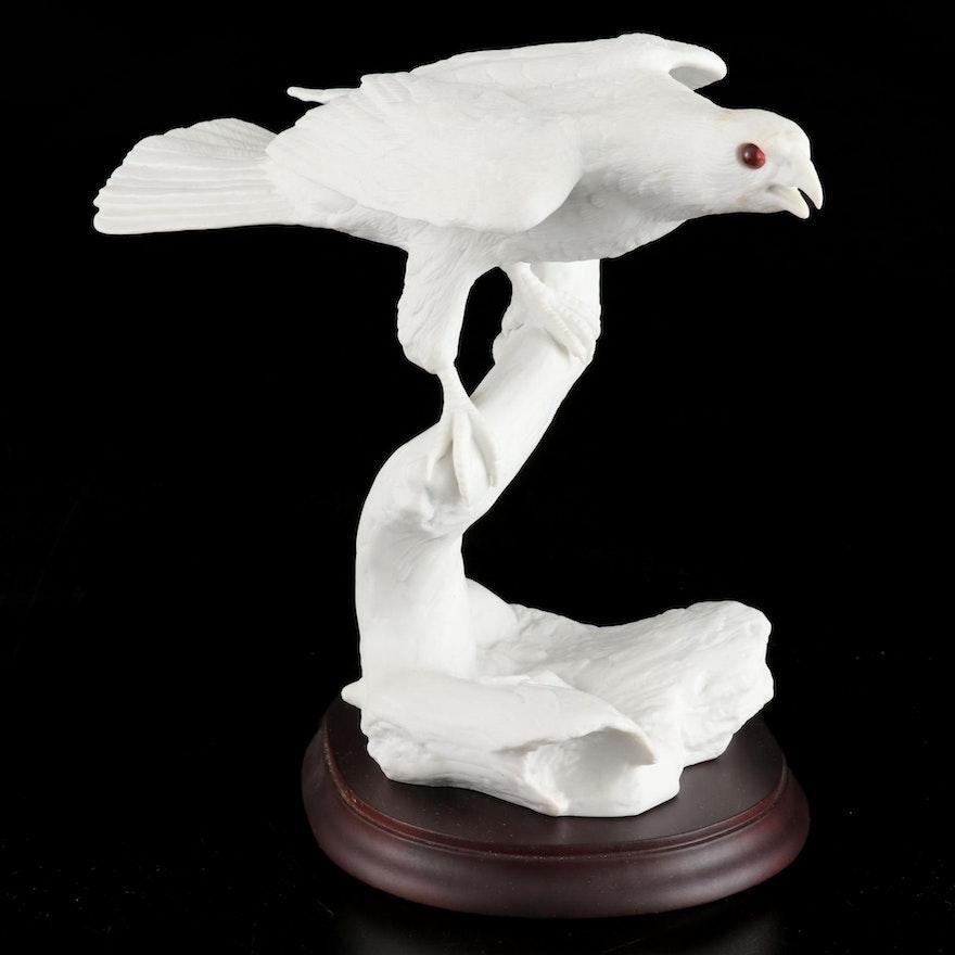 "Jonathan Bronson for Franklin Porcelain ""Silent Hunter"" Figurine, 1985"