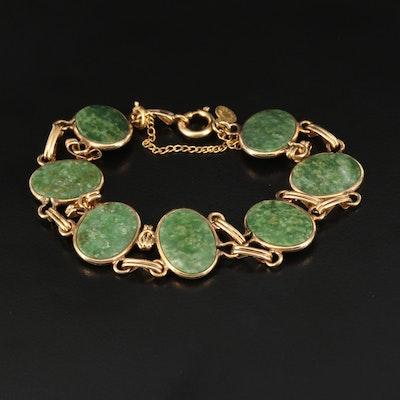 Vintage Nephrite Link Bracelet