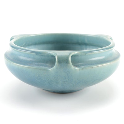 Rookwood Pottery Blue Three-Handle Bowl, 1930