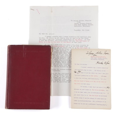 "Signed ""The Red Light of Mars"" by George Bronson-Howard with Letter, 1913"