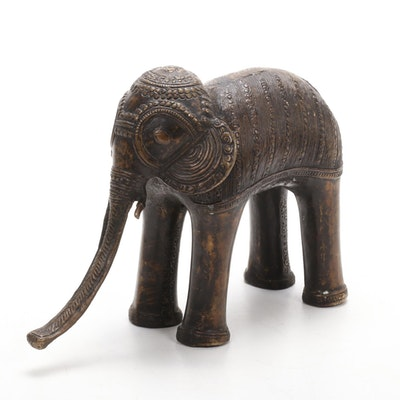 India Bronze Elephant Figurine