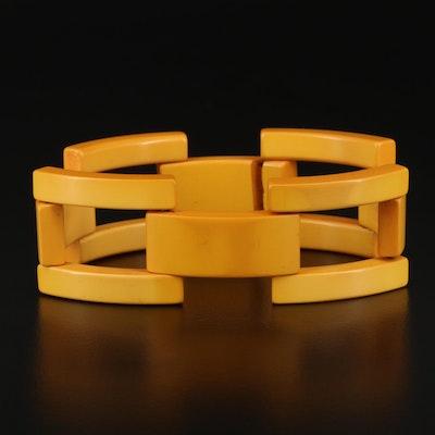 Vintage Butterscotch Bakelite Link Bracelet