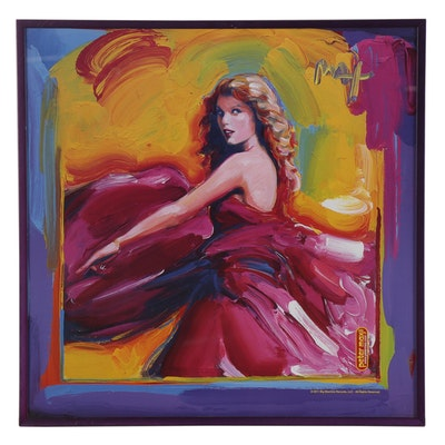 """Pop Art Offset Lithograph after Peter Max """"It's Taylor Swift,"""" Late 20th Century"""