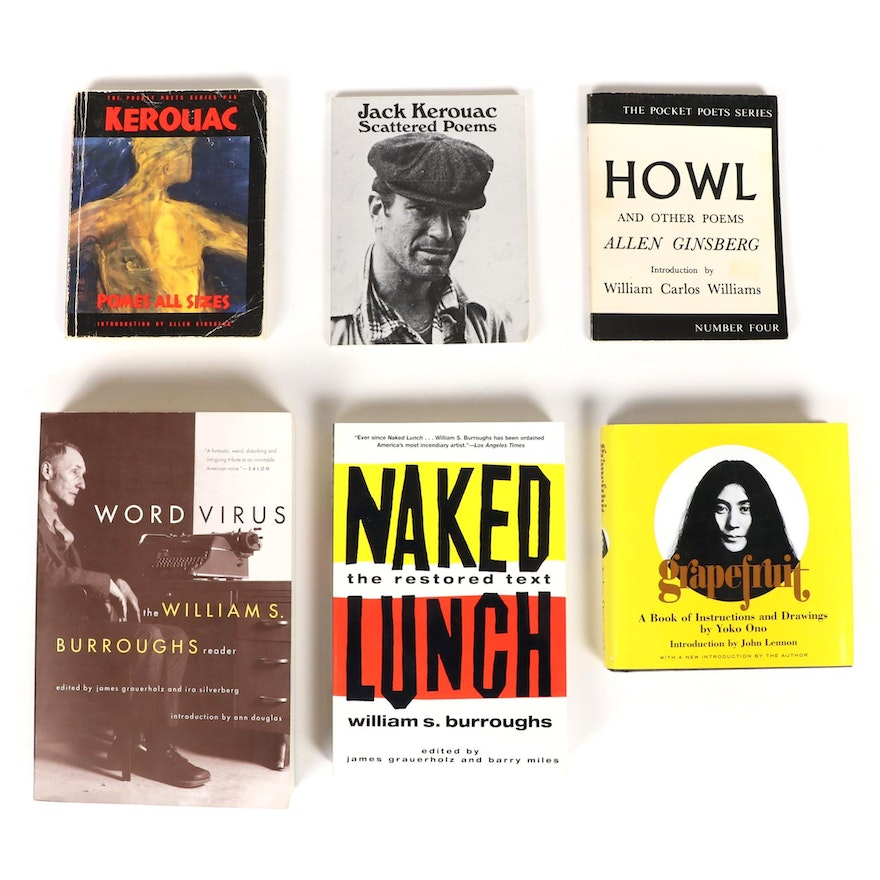 """Grapefruit"" by Yoko Ono, ""Howl"" by Allen Ginsberg, and More Poetry Books"