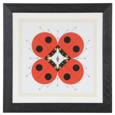 """Offset Lithograph after Charley Harper """"Last Aphid,"""" Late 20th to 21st Century"""