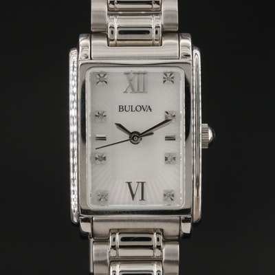Bulova Mother of Pearl and Diamond Dial Wristwatch
