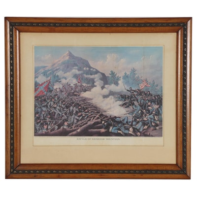 """Offset Lithograph """"Battle of Kenesaw Mountain,"""" Late 20th Century"""