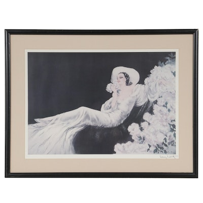 """Offset Lithograph after Louis Icart """"Love's Blossom,"""" Late 20th Century"""