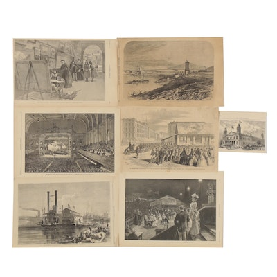 Harper's Weekly Engravings featuring Scenes of Cincinnati, 1870s