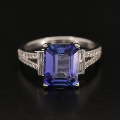 EFFY 14K 4.07 CT Tanzanite and Diamond Ring
