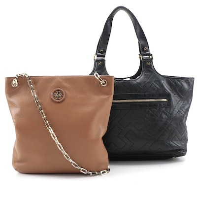 Tory Burch Leather Tote Bag and Chain Strap Crossbody