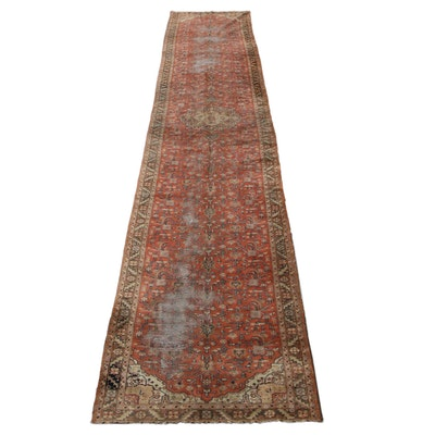 5'4 x 31' Hand-Knotted Persian Heriz Palace Size Long Rug, 1950s