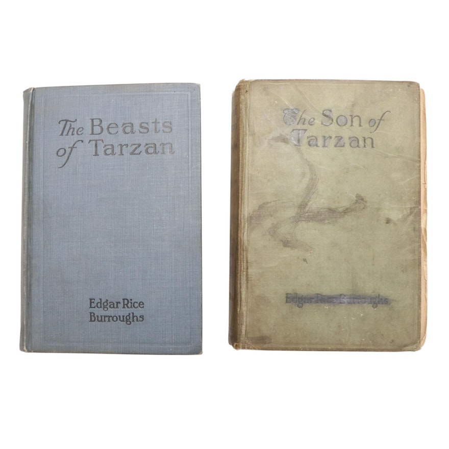 """Early Reprints """"The Beasts of Tarzan"""" and """"The Son of Tarzan"""" by E. R. Burroughs"""