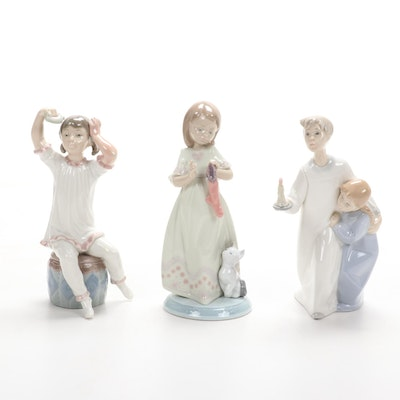 """Lladró """"A Stocking for Kitty"""" and more Porcelain Figurines"""