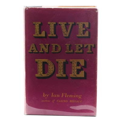 "Third UK Impression ""Live and Let Die"" by Ian Fleming, 1956"