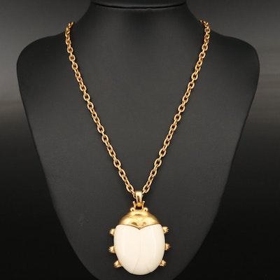 Vintage Alice Caviness Ladybug Pendant Necklace