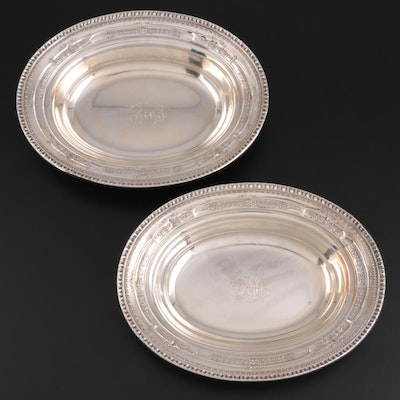 "Dominick & Haff ""La Salle"" Sterling Silver Oval Serving Bowls, 1929"