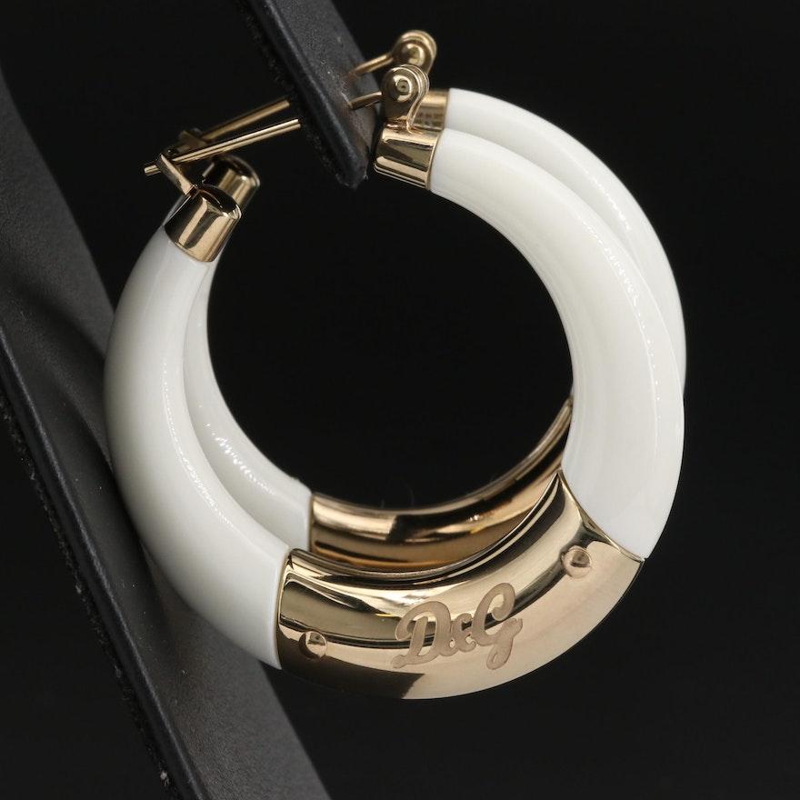 Dolce and Gabbana Hoop Earrings