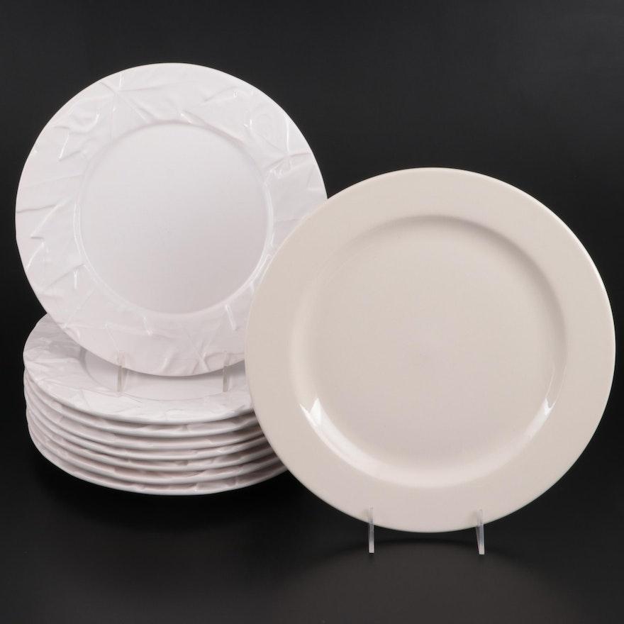 Bordallo Pinheiro Dinner Plates and Homer Laughlin China Serving Plate