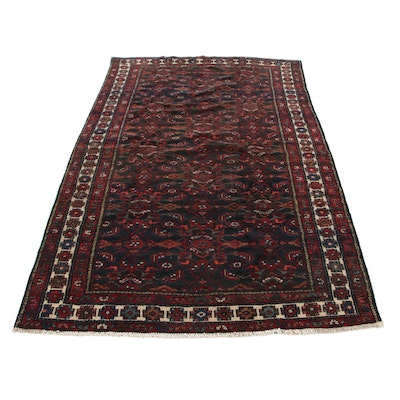 5'9 x 9'7 Hand-Knotted Persian Zanjan Area Rug, 1940s