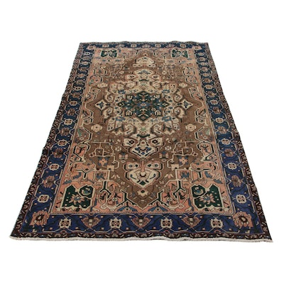 5'3 x 10' Hand-Knotted Persian Bakhtiari Area Rug, 1970s