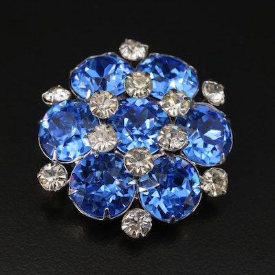 Vintage Kramer of New York Rhinestone Converter Brooch