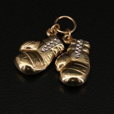 14K Boxing Gloves Charm