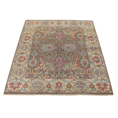 7'11 x 10' Hand-Knotted Indo-Persian Tabriz Area Rug, 2010s