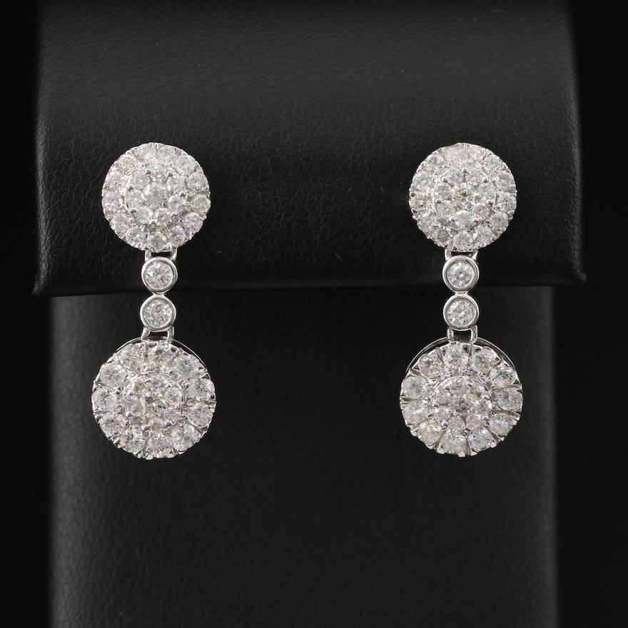 14K 3.01 CTW Diamond Drop Earrings