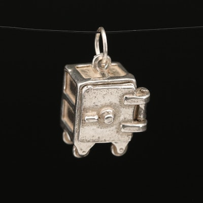 Sterling Safe with Heart Articulating Charm Pendant