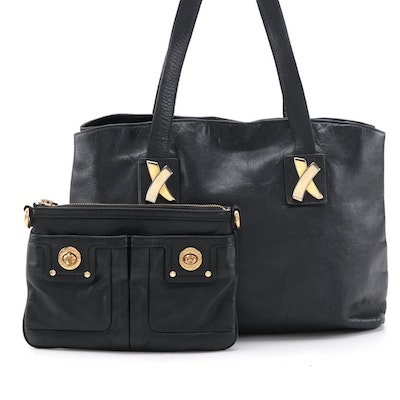 Marc by Marc Jacobs and Paloma Picasso Black Leather Tote and Crossbody