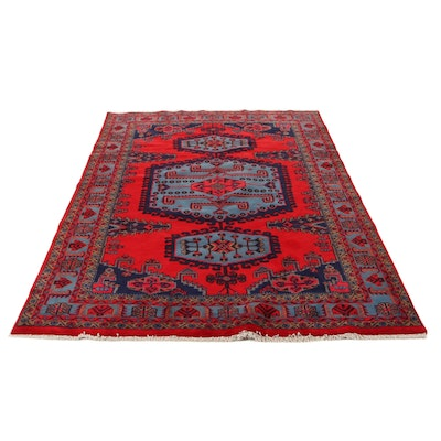 6'7 x 10'4 Hand-Knotted Persian Viss Area Rug, 1970s
