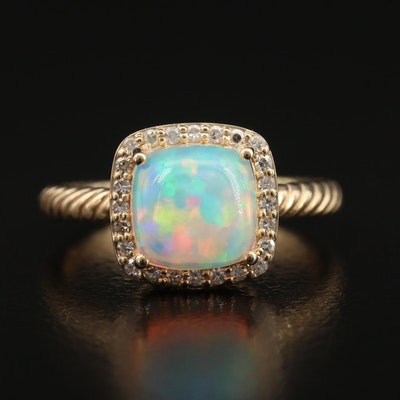 EFFY 14K Opal and Diamond Ring