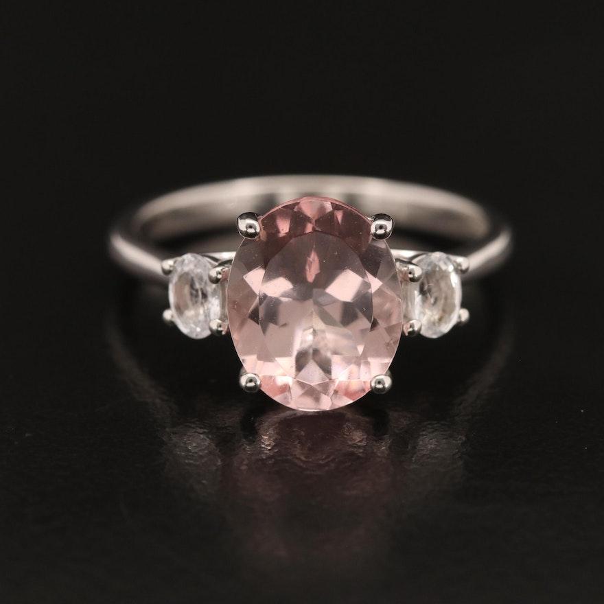 EFFY 14K Morganite and Sapphire Ring