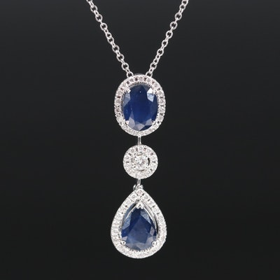 EFFY 14K 2.75 CTW Sapphire and Diamond Necklace