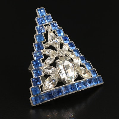 Art Deco Rhinestone Dress Clip