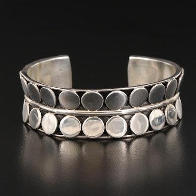 Sterling Silver Geometric Cuff
