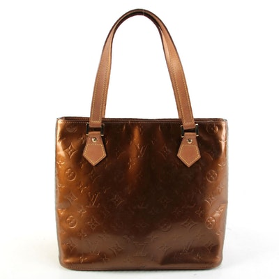 Louis Vuitton Bronze Monogram Vernis Houston Bag