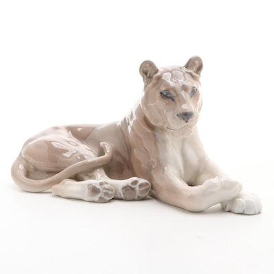 """Royal Copenhagen """"Lioness"""" Porcelain Figurine"""