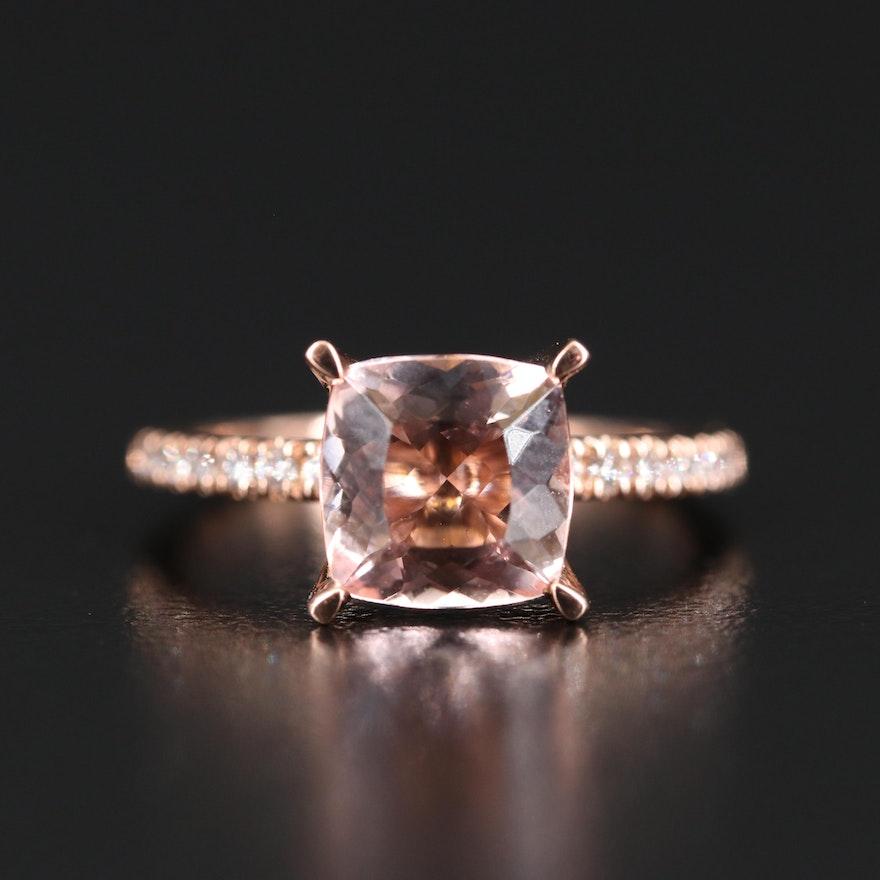 EFFY Morganite and Diamond Ring