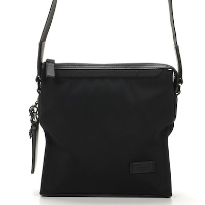 Tumi Unisex Leather and Nylon Shoulder