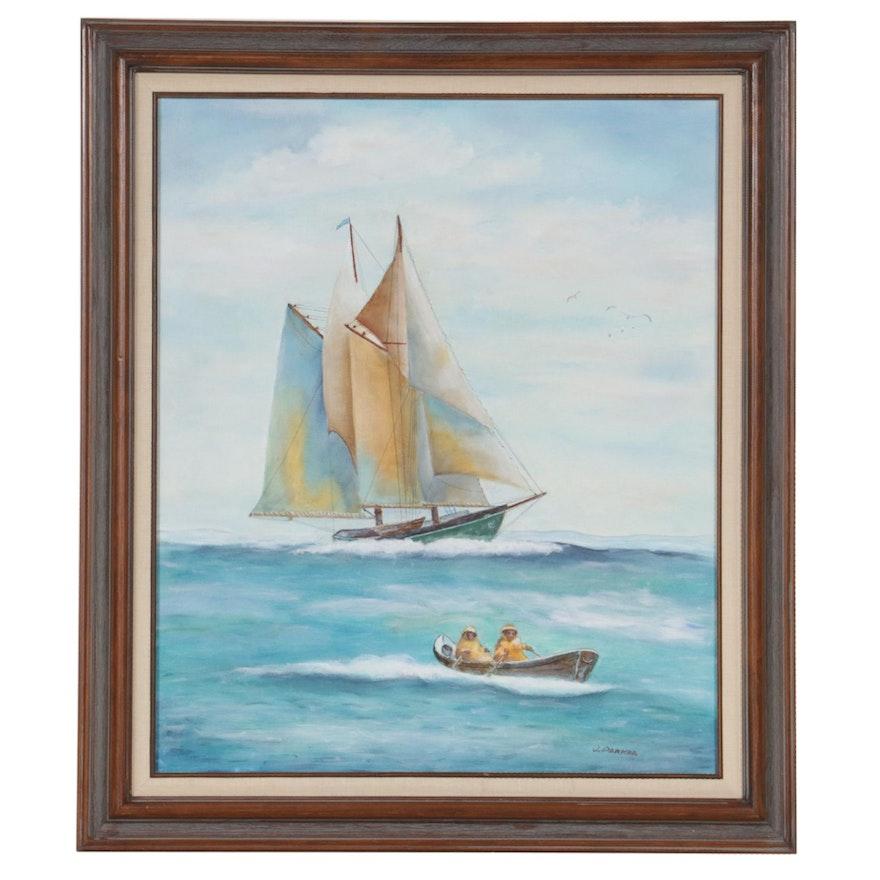 Jack Parker Nautical Seascape Oil Painting