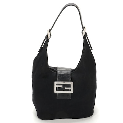 Fendi Shoulder Bag in Black Canvas