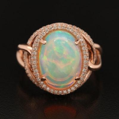 EFFY 14K Opal and Diamond Interlocking Ring