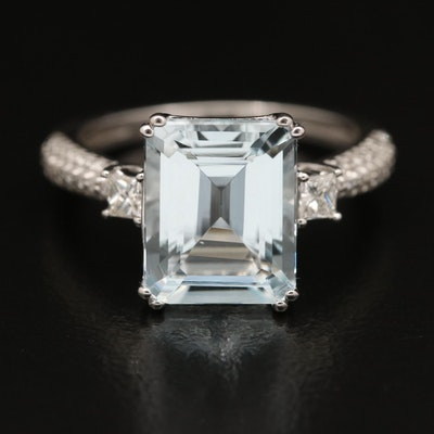 EFFY 14K Aquamarine and Diamond Ring