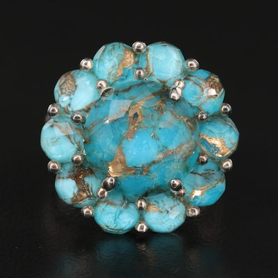 Ippolita Sterling Silver Quartz and Turquoise Doublet Ring
