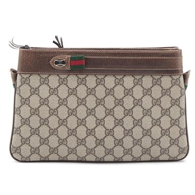 Gucci Accessory Collection GG Supreme Web Crossbody Clutch