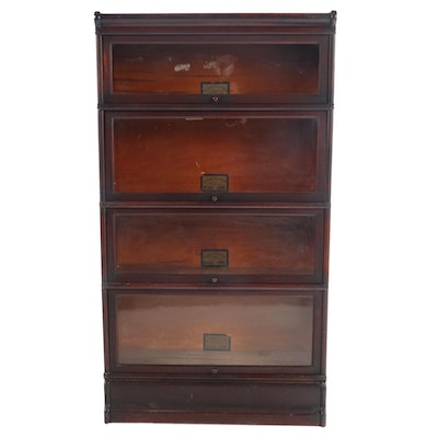 The Globe-Wernicke Co. Mahogany Four-Stack Barrister's Bookcase