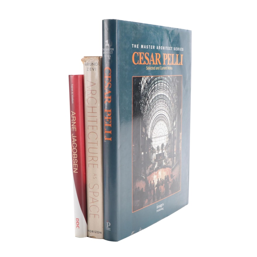 """Signed """"The Master Architect Series"""" by Cesar Pelli and Other Architecture Books"""